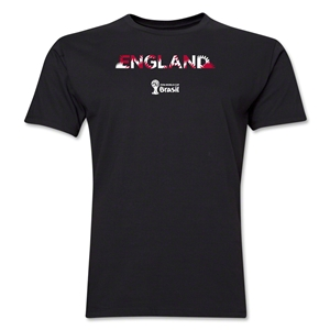 England 2014 FIFA World Cup Brazil(TM) Men's Premium Palm T-Shirt (Black)