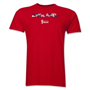 England 2014 FIFA World Cup Brazil(TM) Men's Premium Palm T-Shirt (Red)
