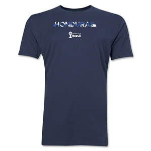 Honduras 2014 FIFA World Cup Brazil(TM) Men's Premium Palm T-Shirt (Navy)