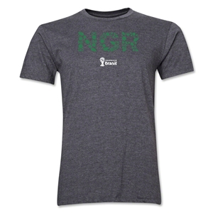 Nigeria 2014 FIFA World Cup Brazil(TM) Men's Premium Elements T-Shirt (Dark Grey)