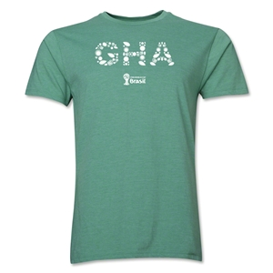 Ghana 2014 FIFA World Cup Brazil(TM) Men's Premium Elements T-Shirt (Heather Green)