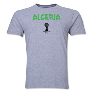 Algeria 2014 FIFA World Cup Brazil(TM) Men's Premium Core T-Shirt (Grey)