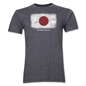 Japan FIFA World Cup Brazil(TM) Men's Premium Flag T-Shirt (Dark Gray)