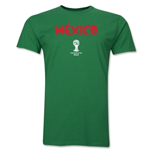 Mexico 2014 FIFA World Cup Brazil(TM) Men's Premium Native Language T-Shirt (Black)