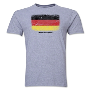 Germany FIFA World Cup Brazil(TM) Men's Premium Flag T-Shirt (Gray)