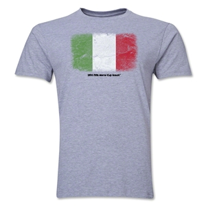 Italy FIFA World Cup Brazil(TM) Men's Premium Flag T-Shirt (Gray)