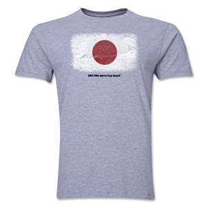 Japan FIFA World Cup Brazil(TM) Men's Premium Flag T-Shirt (Gray)