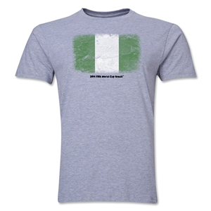 Nigeria FIFA World Cup Brazil(TM) Men's Premium Flag T-Shirt (Gray)