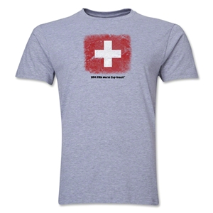 Switzerland FIFA World Cup Brazil(TM) Men's Premium Flag T-Shirt (Gray)