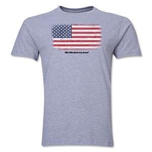 USA FIFA World Cup Brazil(TM) Men's Premium Flag T-Shirt (Gray)