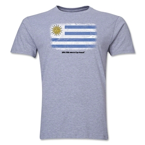 Uruguay FIFA World Cup Brazil(TM) Men's Premium Flag T-Shirt