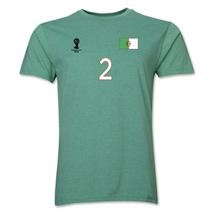 Algeria FIFA World Cup Brazil(TM) Men's Number 2 T-Shirt (Heather Green)