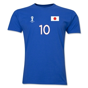 Japan FIFA World Cup Brazil(TM) Men's Number 10 T-Shirt (Royal)