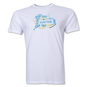 Argentina FIFA World Cup Brazil(TM) Men's Premium Celebration T-Shirt (White)