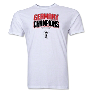 Germany 2014 FIFA World Cup Brazil(TM) Men's Champions Logotype T-Shirt (White)