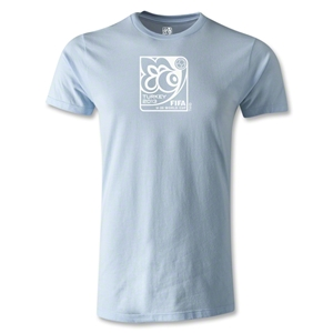 FIFA U-20 World Cup Turkey 2013 Men's Fashion Emblem T-Shirt (Sky Blue)