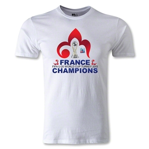 France FIFA U-20 World Cup 2013 Winners Men's Fashion T-Shirt (White)