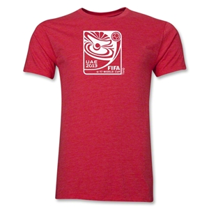FIFA U-17 World Cup UAE 2013 Men's Official Emblem T-Shirt (Heather Red)