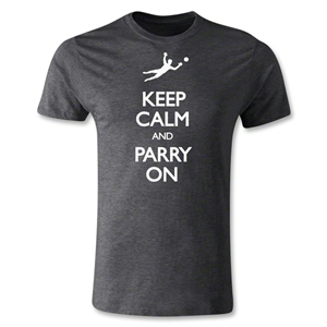 Keep Calm and Parry On Men's Fashion T-Shirt (Dark Gray)