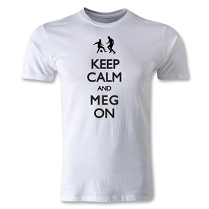 Keep Calm and Meg On Men's Fashion T-Shirt (White)