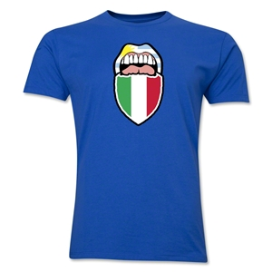 Suarez Bites Italy Men's Fashion T-Shirt (Royal)