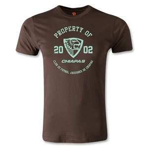Jaguares de Chiapas Distressed Property Men's Fashion T-Shirt (Brown)