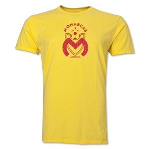 Monarcas Distressed Men's Fashion T-Shirt (Yellow)