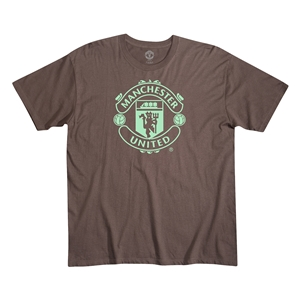 Manchester United Men's Fashion T-Shirt (Brown)