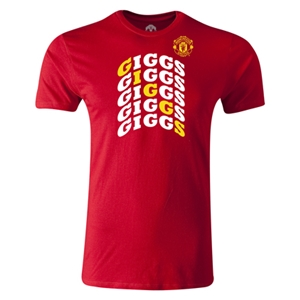 Manchester United Giggs Men's Fashion T-Shirt (Red)