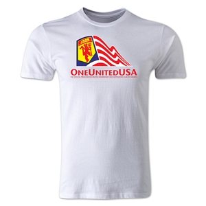 One United USA Men's Fashion T-Shirt (White)