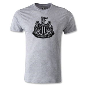 Newcastle United Distressed Crest Men's Fashion T-Shirt (Gray)