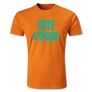 Cote d'Ivoire Powered by Passion T-Shirt (Orange)