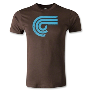 Puro Futebol Distressed Icon Men's Fashion T-Shirt (Brown)