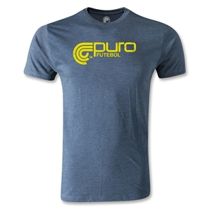 Puro Futbol Distressed Logo Men's Fashion T-Shirt (Blue)