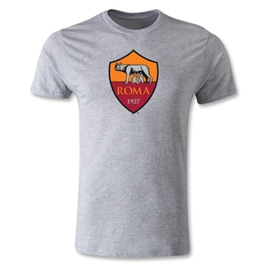 AS Roma Crest Men's Fashion T-Shirt (Gray)
