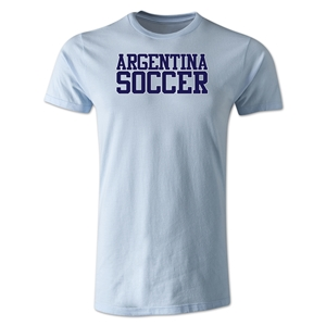 Argentina Soccer Supporter Men's Fashion T-Shirt (Sky Blue)