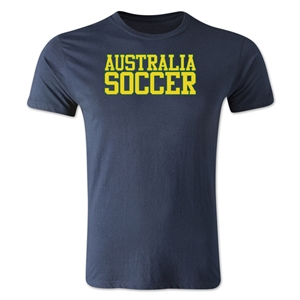 Australia Soccer Supporter Men's Fashion T-Shirt (Navy)