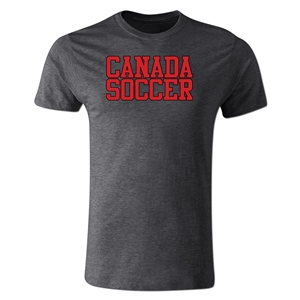Canada Soccer Supporter Men's Fashion T-Shirt (Dark Gray)