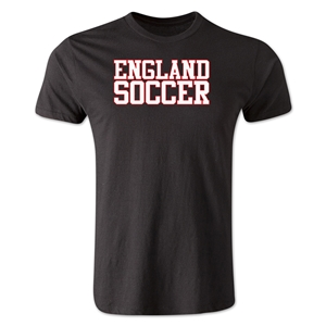 England Soccer Supporter Men's Fashion T-Shirt (Black)