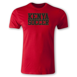 Kenya Soccer Supporter Men's Fashion T-Shirt (Red)