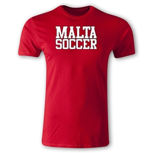 Malta Soccer Supporter Men's Fashion T-Shirt (Red)
