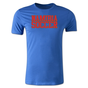Namibia Soccer Supporter Men's Fashion T-Shirt (Royal)