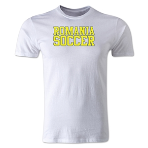 Romania Soccer Supporter Men's Fashion T-Shirt (White)