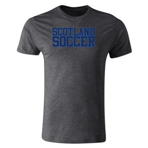 Scotland Soccer Supporter Men's Fashion T-Shirt (Dark Gray)