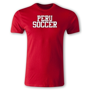 Peru Soccer Supporter Men's Fashion T-Shirt (Red)