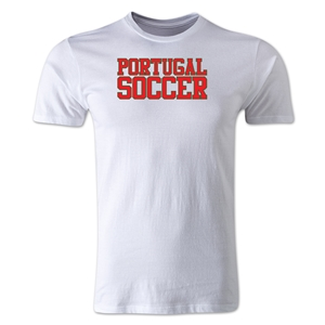 Portugal Soccer Supporter Men's Fashion T-Shirt (White)
