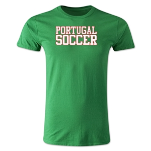 Portugal Soccer Supporter Men's Fashion T-Shirt (Green)