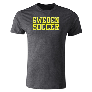 Sweden Soccer Supporter Men's Fashion T-Shirt (Dk Gray)