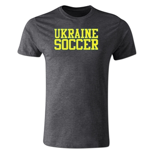 Ukraine Soccer Supporter Men's Fashion T-Shirt (Dk Gray)