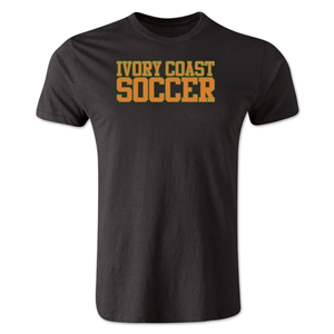 Ivory Coast Soccer Supporter Men's Fashion T-Shirt (Black)